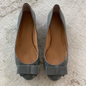 JCrew Grey Harper Bow Heels